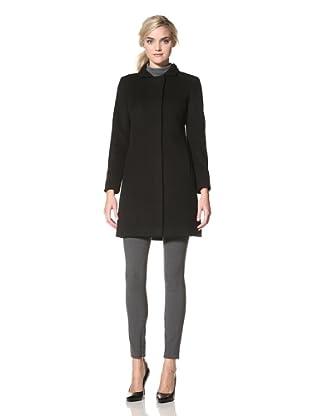 Via Spiga Women's Ella Wool Jacket with Stand Collar (Black)