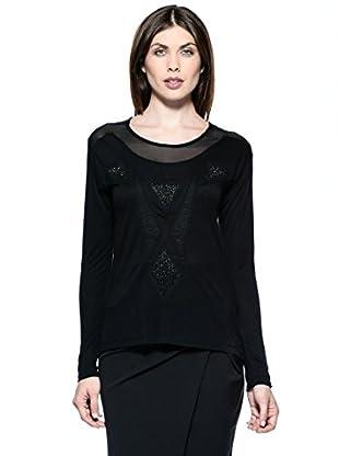 Annarita N Camiseta Larga (Negro)