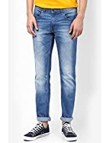 Blue Slim Fit Jeans Peter England