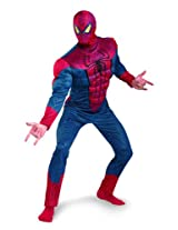 Disguise Marvel The Amazing Spider-Man 3D Movie Classic Muscle Adult Costume, Red/Blue, X-Large/(42-46)