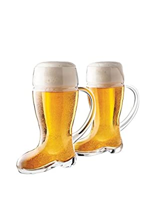 Final Touch Set of 2 Das Beer 23.6-Oz. Boot Glasses
