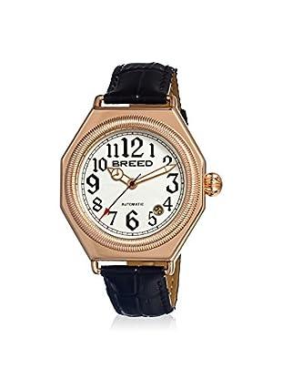 Breed Men's BRD1203 Arthur Black/White Leather Watch