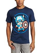 Marvel Men's Cap In Circle T-Shirt
