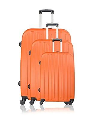 Potiron 3er Set Hartschalen Trolley Alabama orange