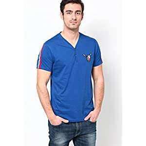 Blue Henley T Shirt