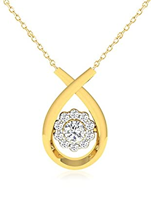 Friendly Diamonds Conjunto de cadena y colgante FDP12290Y Oro Amarillo