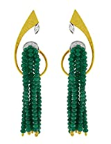 Aastha Jain Green Beads Sterling Silver (18k gold polish) Earring For Women