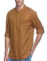 SPYKAR Men Cotton Khaki Casual Shirt (Large)