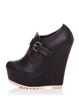 Furiezza Zapatos Abotinados Hebilla (Negro)