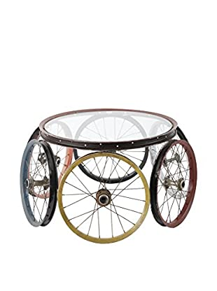 Phillips Collection 6 Wheel Bicycle Coffee Table, Multi