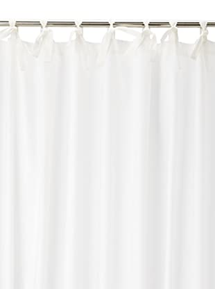 Coyuchi Pin Tuck 300 Percale Shower Curtain, White