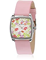 L6659 Pink/Silver Analog Watch