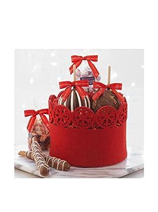 Mrs. Prindable's Winter Wonderland Petite Caramel Apple Basket