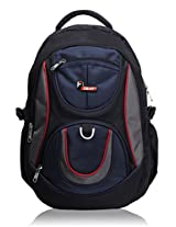 F Gear Axe Black Blue School Bag
