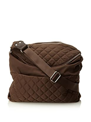 co-lab by Christopher Kon Women's Large Nylon Quilt Sammie Cross-Body (Brown)