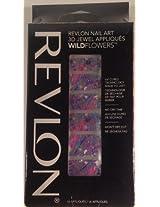 "Revlon Nail Art 3D Jewel Appliques WILDFlowers ""Psychedelic"" Design - 2 Pack"