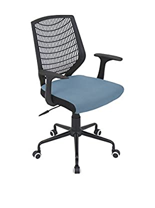 LumiSource Network Office Chair, Black/Smoked Blue
