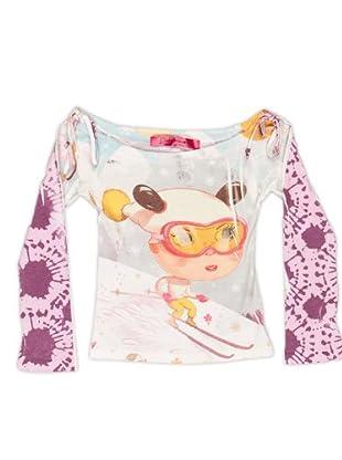 Custo Camiseta Leny suki (gris / lila)