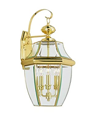 Crestwood Mabel 3-Light Wall Light, Polished Brass