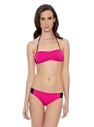 Cortefiel Bikini Bandeau Foam Extraib (Rosa)