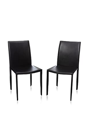 Safavieh Set of 2 Karna Dining Chairs (Black)