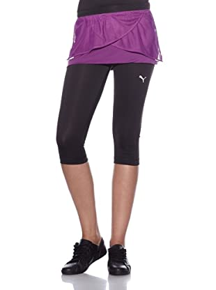PUMA Rock mit Leggins Run 3/4 Skort W (black/gloxinia)