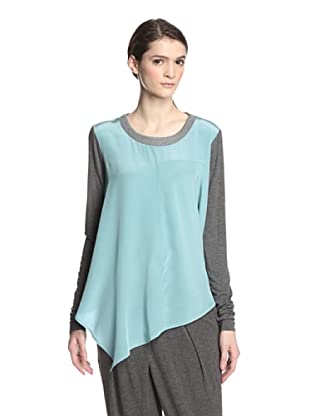 Elizabeth and James Women's Water Leslie Top (Celeste Blue/Heather Grey)