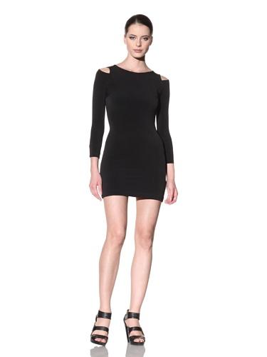 FACTORY by Erik Hart Women's Matte Jersey Long Sleeve Dress (Onyx)