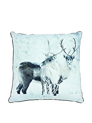 Torre & Tagus Winter Deer Printed Photo Cushion