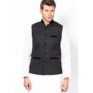Dastak Waist Coat Black