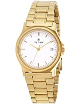 Titan Karishma Analog White Dial Men's Watch - NE389YM10