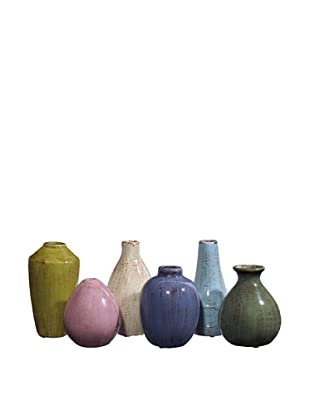 Set of 6 Assorted Mini Tuscany Vases