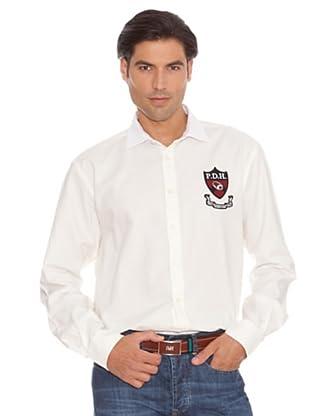 Pedro Del Hierro Camisa Escudo (Crudo)