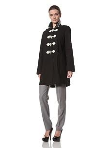 Jane Post Women's Long Duffle Coat (Black)