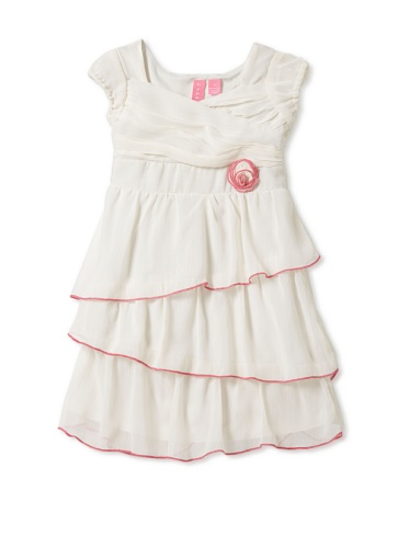 Hype Girls Solid Yoryu Dress (Ivory)
