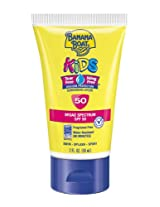 Banana Boat Kids Tear Free Sunscreen Lotion Travel Size SPF 50, 2 Ounce (Pack of 3)