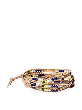 Chan Luu Blue Mix and Beige Wrap Bracelet