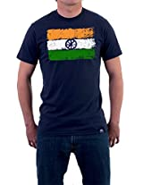 "Tricolor Nation India Pride T-shirt ""Brushed Tricolor"" for Men"