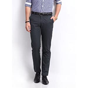 U.S. Polo Assn. Men Grey Tailored Fit Trousers