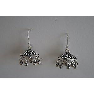 Gajgauri Elegant Silver Jhumki Earring