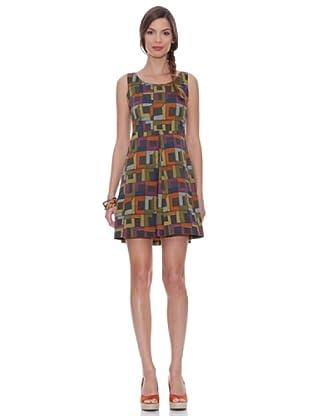 Siyu Kleid (mehrfarbig / violett)