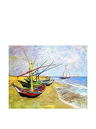 Legendarte Lienzo Barche Di Pescatori Sulla Spiaggia di Vincent Van Gogh