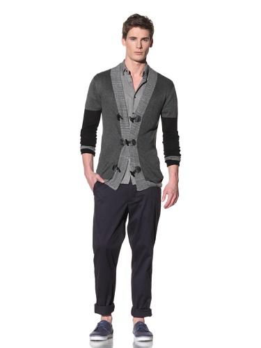 Fremont Men's Alexander Toggle Cardigan (Black/Grey)