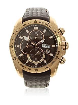 Pit Lane Uhr mit Miyota Uhrwerk Pl-1006-7 schokolade 46 mm
