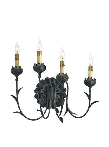 Currey and Company Quadrille Wall Sconce, Left Side