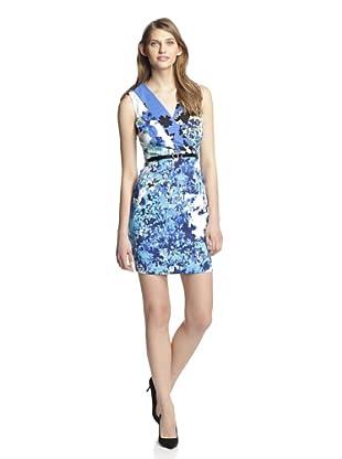 Marc New York Women's Belted Surplice Dress (Blue Jay)