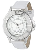 XOXO Women's XO3187 Silver Dial White Strap Watch