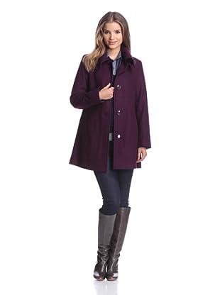 London Fog Women's A-Line Coat (Plum)