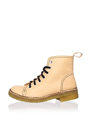 Swedish Hasbeens Women's Lace-Up Duck Boot (Nature)