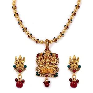 Necklace sets - Diva Style Me Goddess Laxmi Temple Jewellery Antique